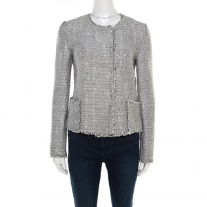 Boss Orange by Hugo Boss Monochrome Tweed Boucle Jacket M