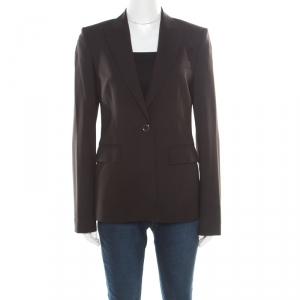 Boss by Hugo Boss Brown Wool Tailored Juicy Blazer S