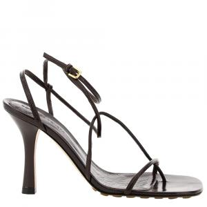 Bottega Veneta Black Bv Line Leather Sandals Size EU 36