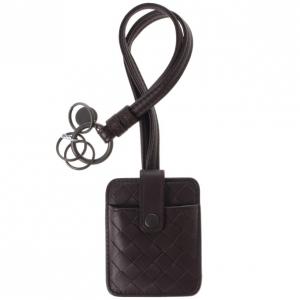 Bottega Veneta Brown Intrecciato Leather Key Pouch