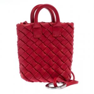 Bottega Veneta Red Intrecciato Nappa Leather Tote Bag Charm