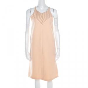 Bottega Veneta Pastel Peach Wool Halter Shift Dress M - used