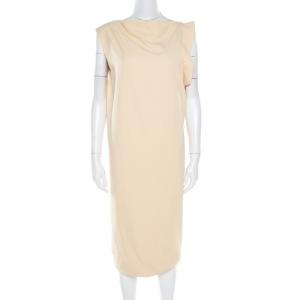 Bottega Veneta Butterscotch Twill Sleeveless Draped Dress M - used