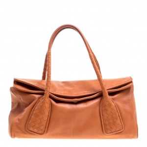 Bottega Veneta Copper Leather Satchel