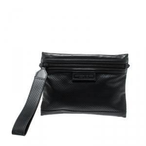 Bottega Veneta Black Leggero Leather Pouch