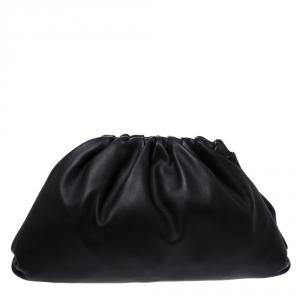 Bottega Veneta Black Leather The Pouch