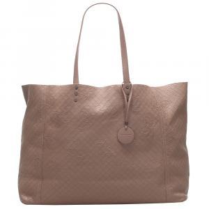 Bottega Veneta Brown Intrecciato Butterfly Leather Tote Bag