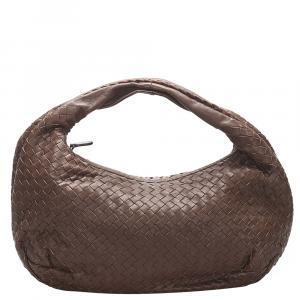 Bottega Veneta Brown Intrecciato Leather Hobo Bag