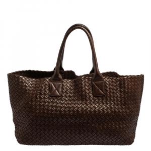 Bottega Veneta Brown Intrecciato Leather Medium Cabat Tote