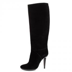Bottega Veneta Black Suede Knee High Boots Size 40.5 - used