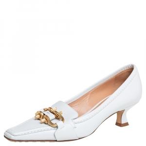 Bottega Veneta White Leather Madame Pumps Size 36.5
