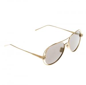 نظارة شمسية بوشيرون افياتور بوهيم BC0030S سيربينت عاكسة ذهبية سوداء / ذهبية
