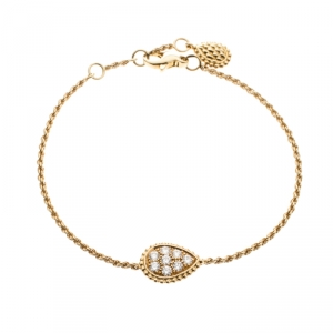 Boucheron Serpent Boheme 18k Yellow Gold And Diamonds S Motif Bracelet