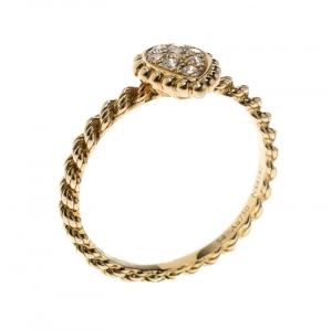 خاتم بوشيرون سيربينت بوهيم ذهب أصفر عيار 18 وألماس حلية XS
