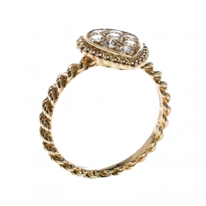 Boucheron Serpent Boheme 18k Yellow Gold And Diamonds S Motif Ring