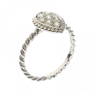 Boucheron Serpent Boheme Diamonds and 18K White Gold S Motif Ring