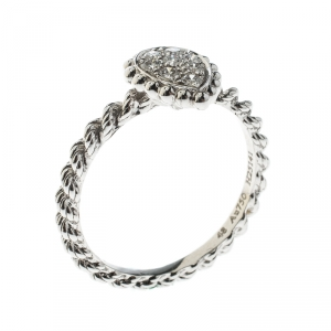 Boucheron Serpent Boheme 18k White Gold And Diamonds XS Motif Ring