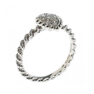 خاتم بوشيرون سيربينت بوهيم ذهب أبيض عيار 18 وألماس حلية XS