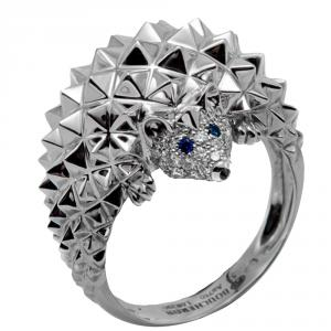 Boucheron White Gold Hedgehog Diamond Ring Size 53