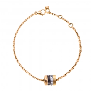 Boucheron Quatre Classique Diamond PVD 18K Three Tone Gold Bracelet