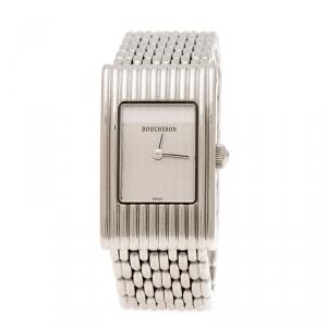 ساعة يد نسائية بوشيرون ريفليت ستانلس ستيل فضية 18 مم