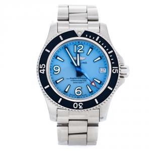 Breitling Blue Stainless Steel Superocean II A17316 Women's Wrstwatch 36 mm