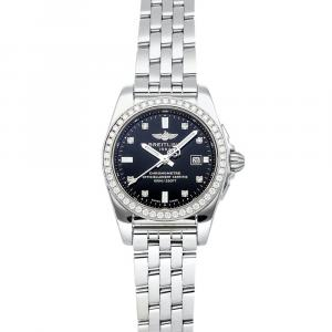 Breitling Black Diamonds Stainless Steel Galactic A7234853/BE50 Women's Wristwatch 29 MM