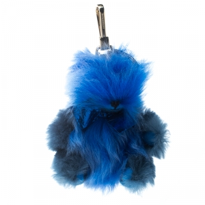 Burberry Blue Soft Wool Thomas Bear Pom Pom Charm