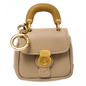 Burberry Beige Leather DK88 Bag Charm