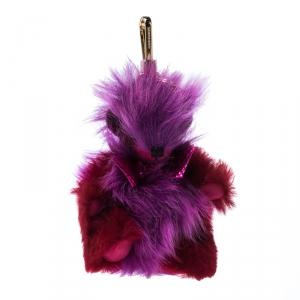 Burberry Purple/Red Punk Thomas Bear Bag Charm