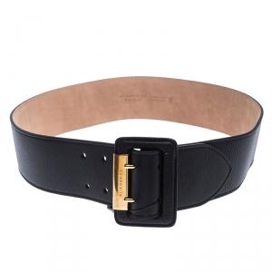 Burberry Black Leather Cecile Waist Belt 90CM