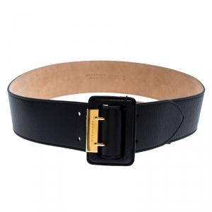 Burberry Black Leather Cecile Waist Belt 95CM