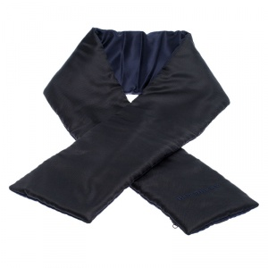 Burberry Black and Navy Silk Puffer Scarf