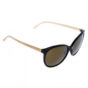 Burberry Black/ Gold Mirrored B 4146 Oval Sunglasses