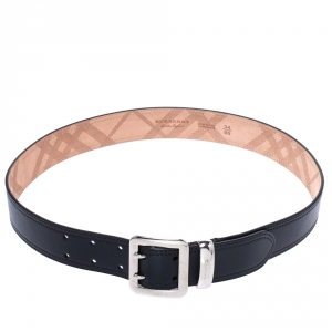 Burberry Black Leather Morgan Belt 85 CM