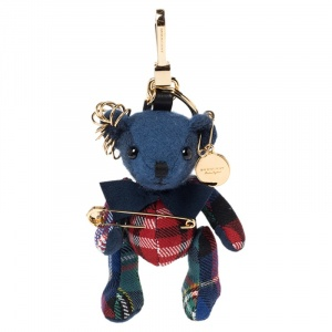 Burberry Multicolor Fabric Thomas Bear Kilt Pin Charm