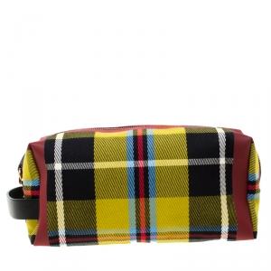 Burberry Multicolor Check Canvas Pouch