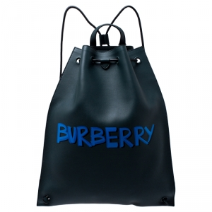 Burberry Deep Green Leather Bobby Backpack