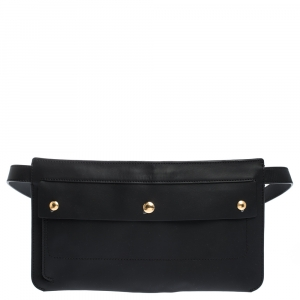 Burberry Black Leather Slim Belt Bag