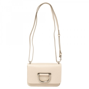 Burberry Beige Leather Mini D-Ring Crossbody Bag