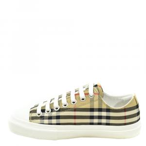 Burberry Multicolor Check Canvas Sneakers Size EU 36