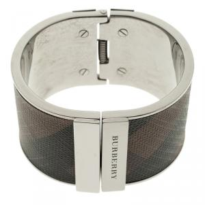 Burberry Coated Canvas Check Wide Cuff Bracelet 17cm