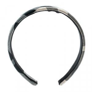 Burberry Beige Novacheck Fabric Headband