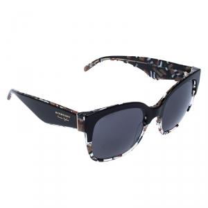 Burberry Black House Check B 4271 Square Sunglasses