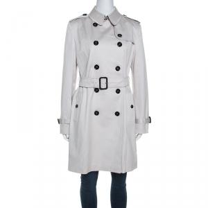 Burberry Beige Gabardine Trench Coat M