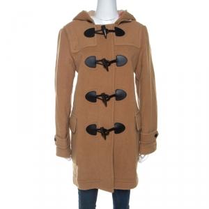 Burberry Camel Beige Wool Mersey Duffle Coat L