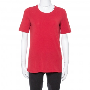 Burberry Red Nova Check Trimmed T Shirt M - used