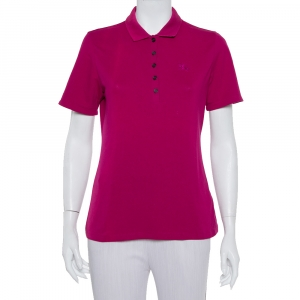 Burberry Brit Pink Logo Detail Polo T-Shirt M - used