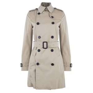 Burberry Beige Kensington Long Heritage Trench Coat S