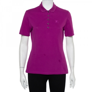 Burberry Brit Purple Cotton Pique Polo T-Shirt M - used